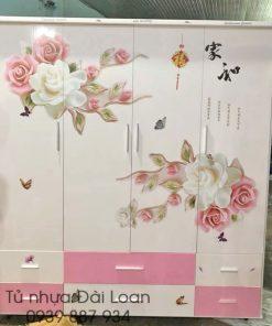 Tủ nhựa Đài Loan 4 cánh 6 ngăn